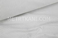 Ткань хлопковая узкая серая полоска №60