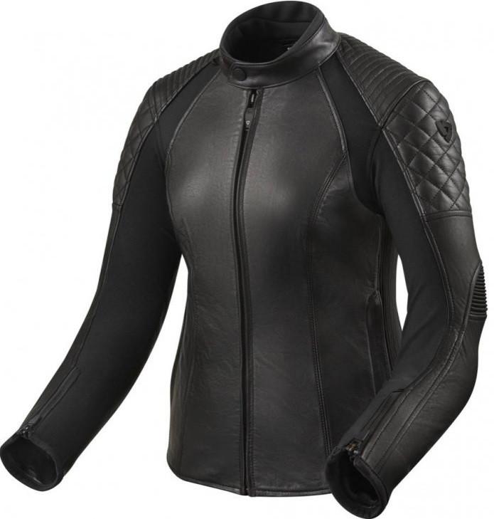 Мотокуртка Revit Luna Ladies текстиль/кожа черная, 36