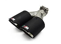 Двойные насадки на выхлоп глушители BMW ///M Performance глушитель бмв 89мм на выход трубы выхлопные