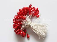 Тычинки для цветов «Красные перламутровые»