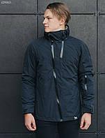 Куртка мужская осенняя STF HH navy синяя демисезонная непромокаемая молодежная с капюшоном