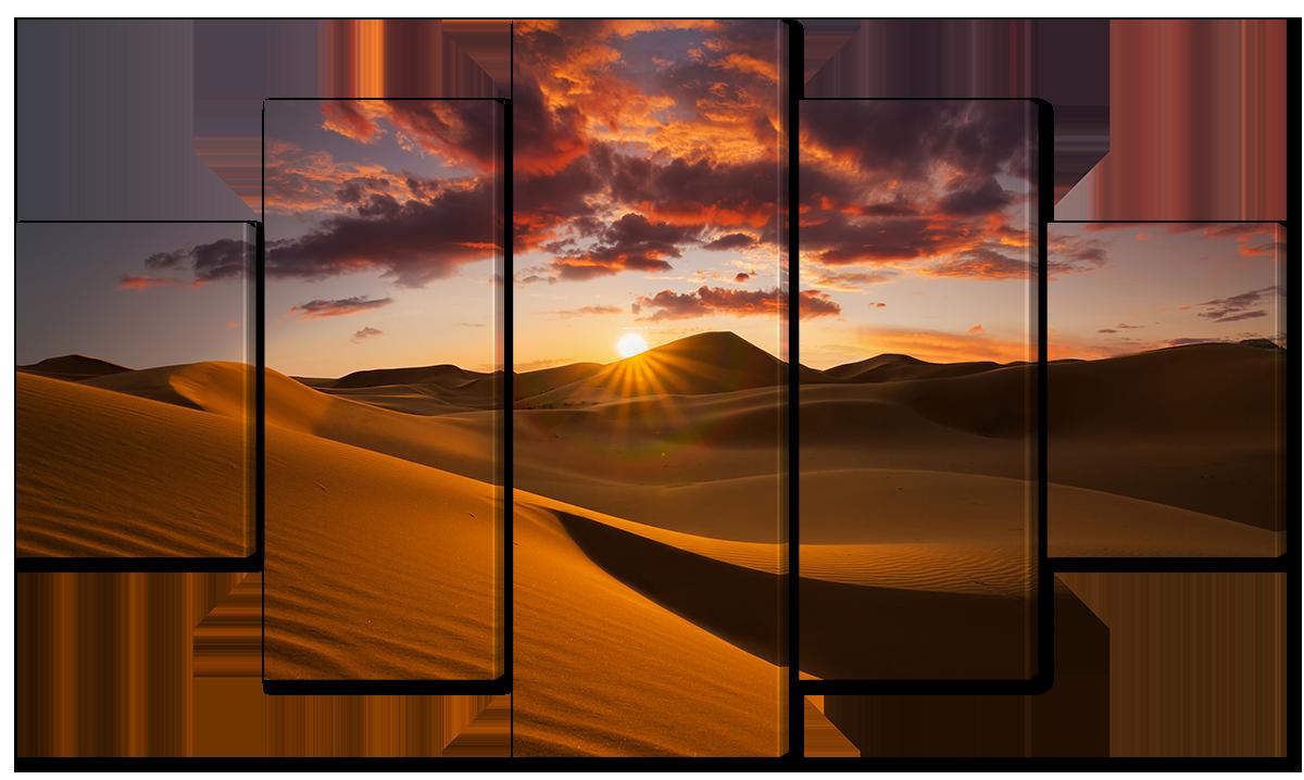 Модульная картина Interno Эко кожа Пустыня в Африке 158х90см (A3663XL)