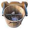 Ведро- водопад для бани из дуба 20 литров, фото 2