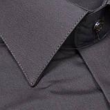 Сорочка чоловіча, прямого крою з довгим рукавом Birindelli 512486 Т. КОРИЧНЕВИЙ 80% бавовна 20% поліестер M(Р), фото 2