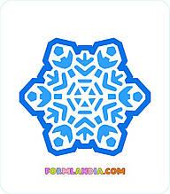 Трафарет + формочка-вырубка для пряников Снежинка №35