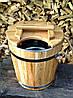 Запарник для веников дубовый 15 л. с нерж. вставкой, фото 7