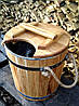 Запарник для веников дубовый 15 л. с нерж. вставкой, фото 8