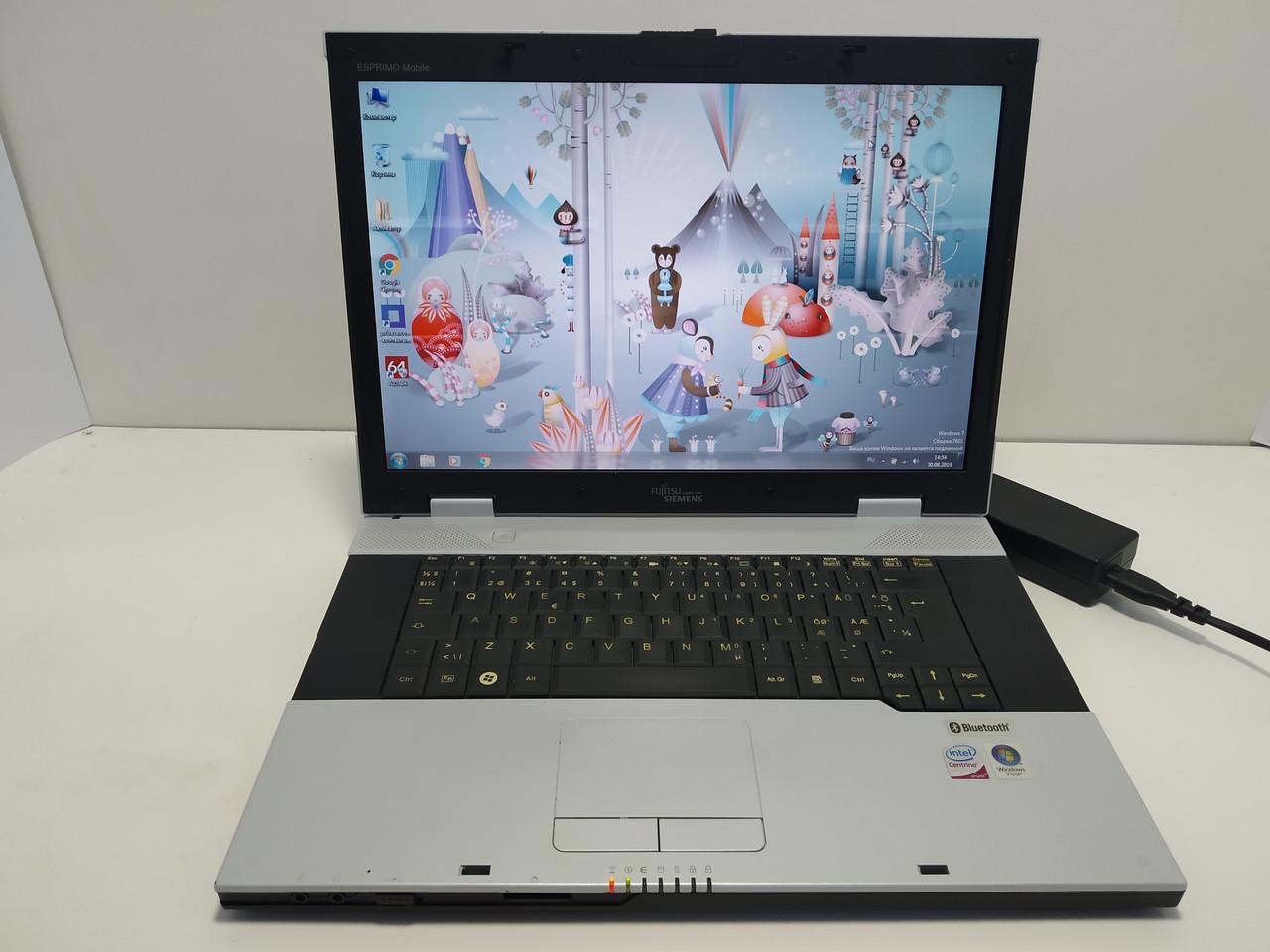 """Ноутбук 15.4"""" FujitsuEsprimo ms2239 \ c2d t5800 2.0\ 2 ГБ ОЗУ \ 160 Гб hdd \ полностью настроен"""