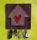 """Ключница """"Счастливый домик"""" - подарок на новоселье, фото 2"""