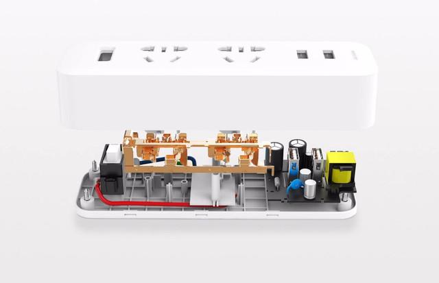 Разветвитель Xiaomi (MiJia) Power Strip (2 розетки + 2 USB) MJEWZHQ-01QM (Белый)
