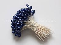 Тычинки для цветов «Темно-голубые перламутровые»