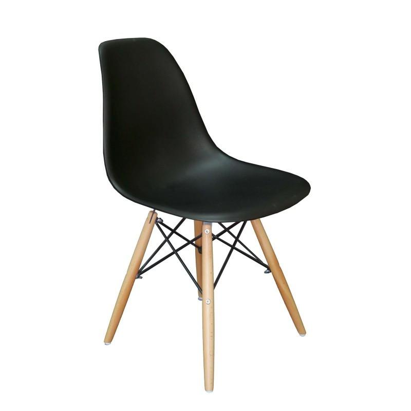 Барный пластиковый стул ENZO MILANO Черный