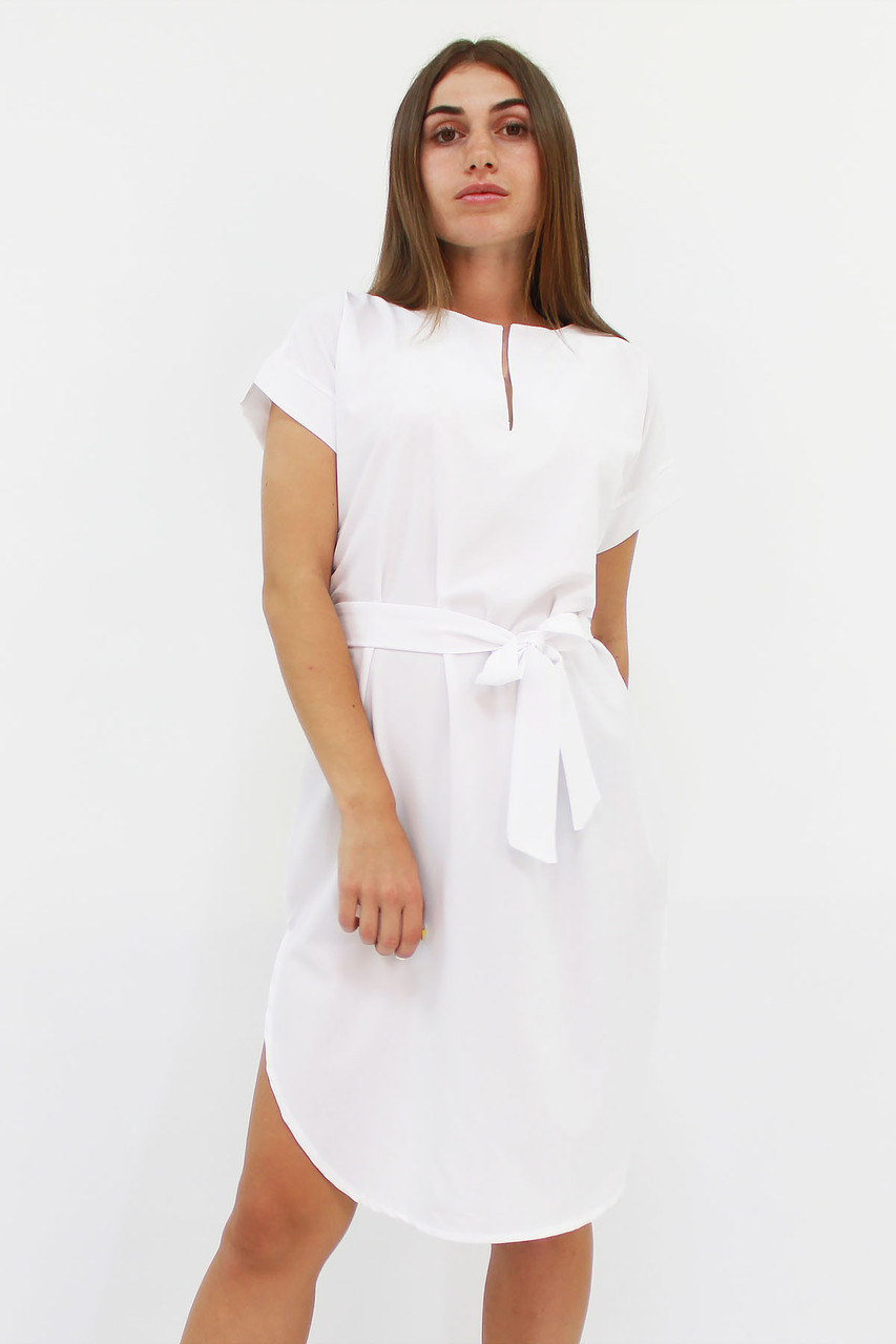 S, M, L, XL / Вишукане повсякденне плаття Megan, білий