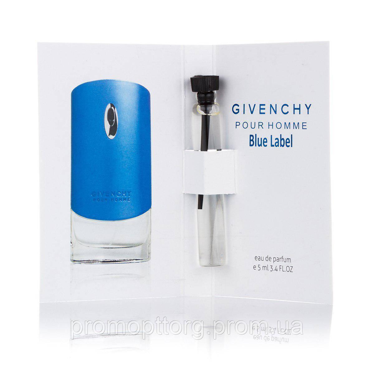 Мужской мини парфюм Givenchy Blue Label пробник 5 ml  (реплика)
