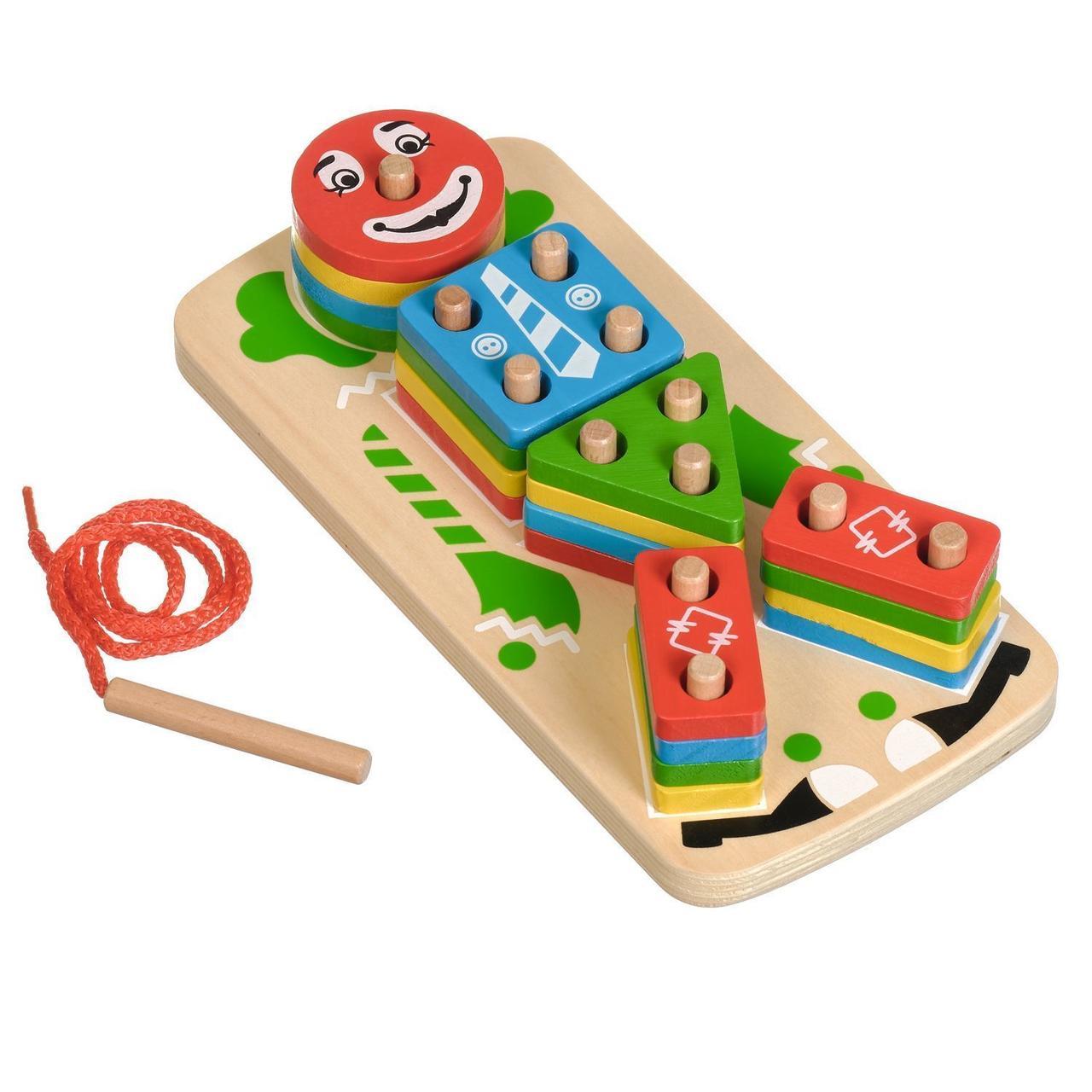 Деревянная игрушка МДИ Клоун Пірамідка ( Д224 )