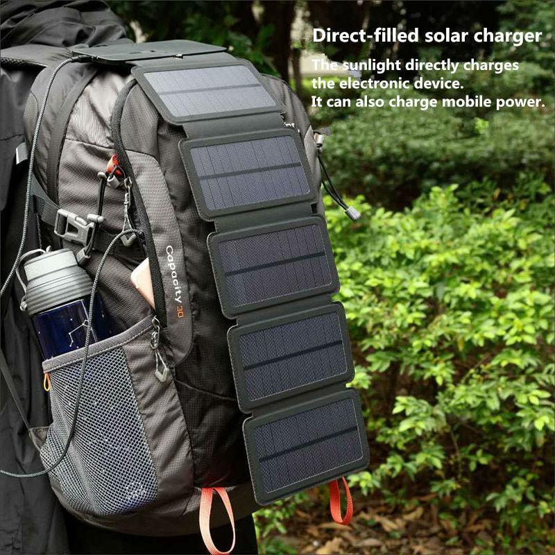 Складна портативна сонячна батарея 10 Вт