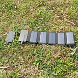 Складна портативна сонячна батарея 10 Вт, фото 3