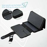 Складна портативна сонячна батарея 10 Вт, фото 4