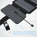 Складна портативна сонячна батарея 10 Вт, фото 5