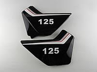 Пластик средних боковин SONIK (черные) пара(0250)