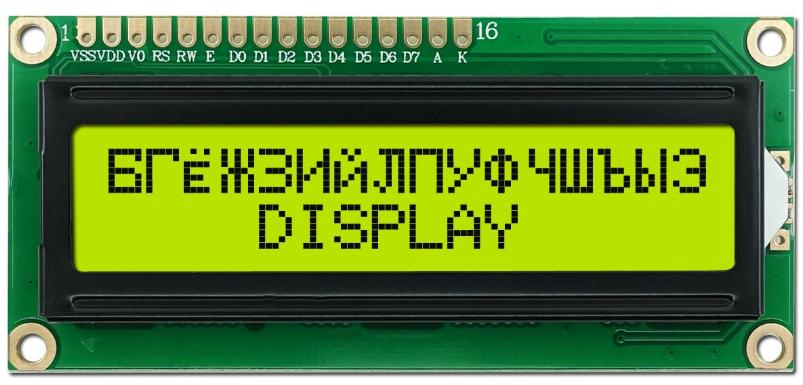 Дисплей LCD 1602 російський, LCD1602