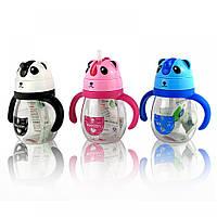 Детская бутылочка поилка для воды с ручками Panda