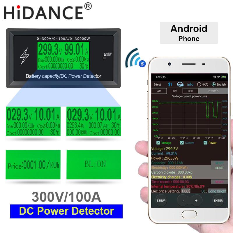 Ватметр постійного струму з Bluetooth, 300В, 100A