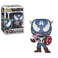 Фигурка Funko Pop Мстители Марвел: Веном-Капитан Америка (32686) #364 Marvel Venom Captain America