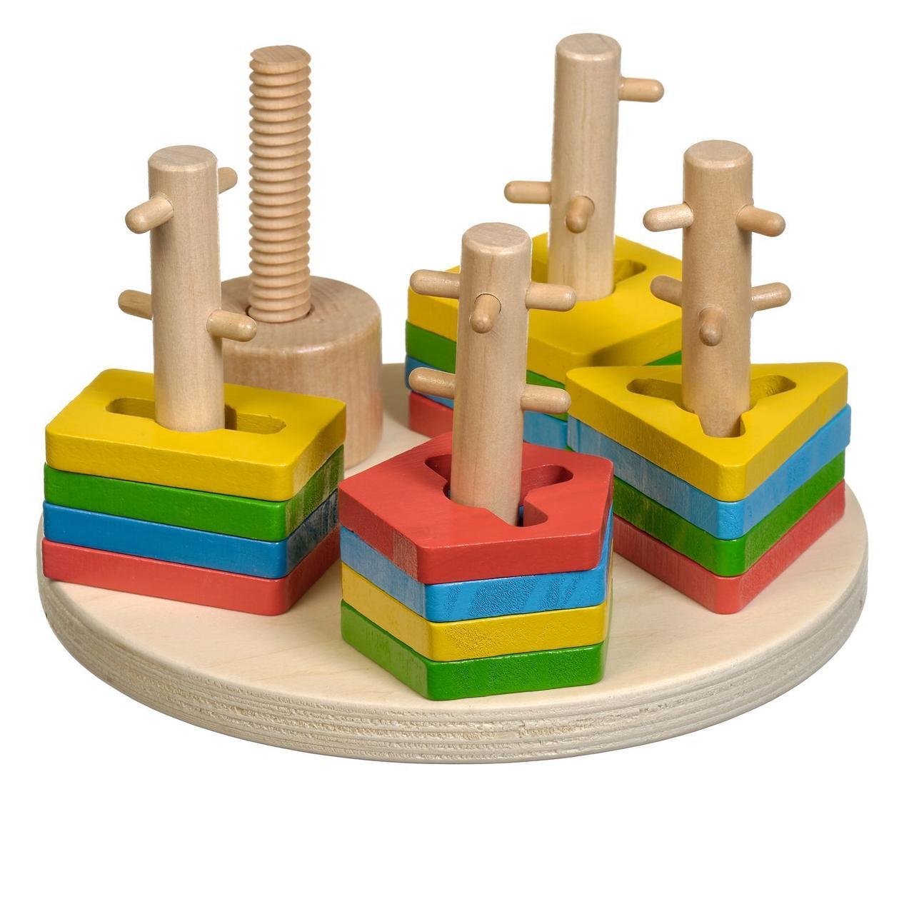Деревянная игрушка МДИ  (Д019) Логічний круг