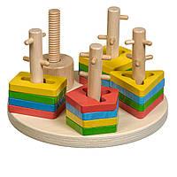 Деревянная игрушка МДИ  (Д019) Логічний круг, фото 1