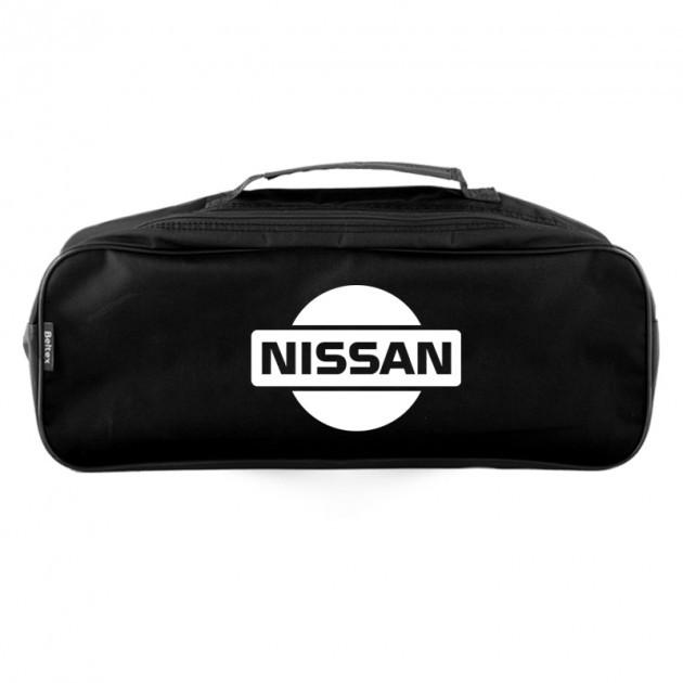 """Сумка в авто 2 отдела с логотипом NISSAN черная  """"Beltex"""""""