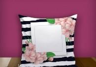 """Печать на подушке """"Flowers"""""""
