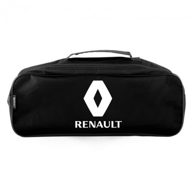 """Сумка в авто 2 отдела с логотипом RENAULT черная  """"Beltex"""""""