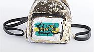 Рюкзак с пайетками для сублимации ЗОЛОТО, фото 4