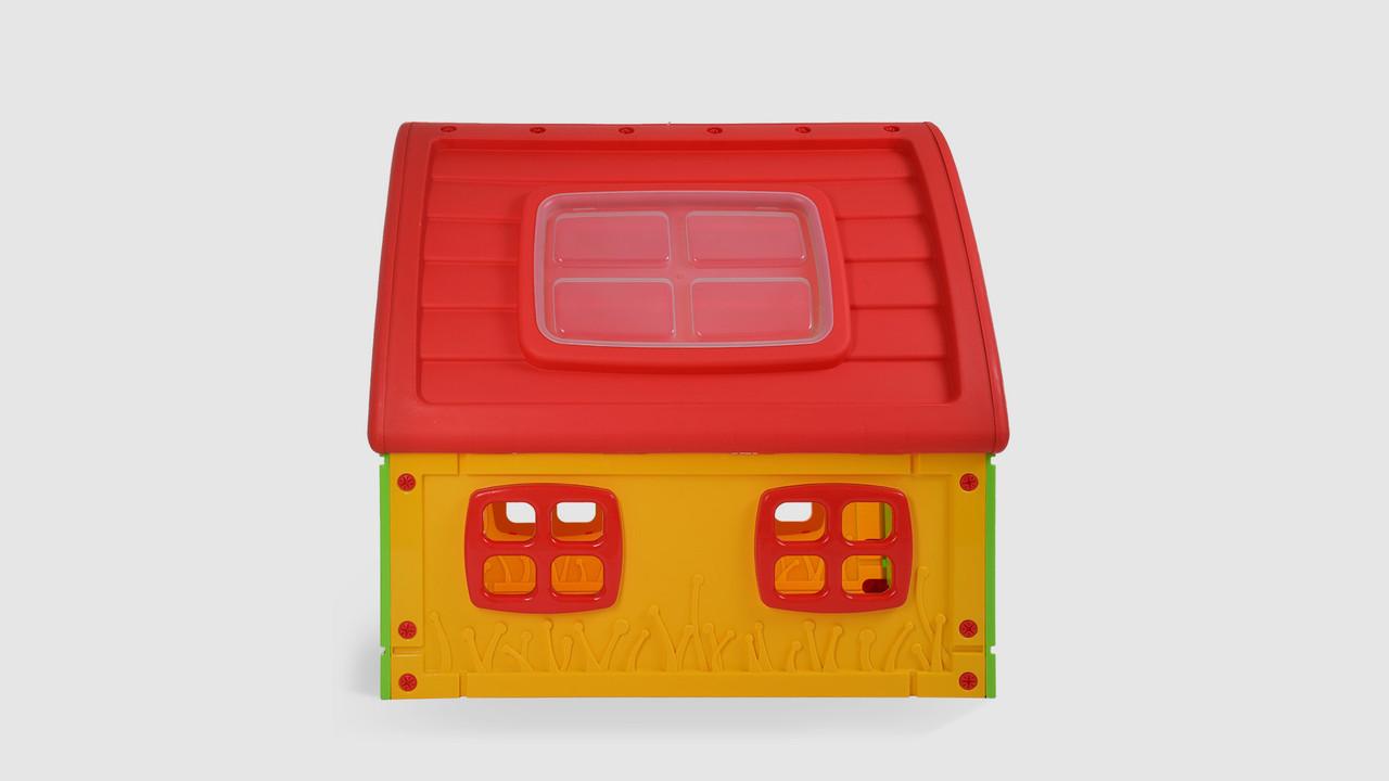 Домик детский FAIRY HOUSE.50-560. Пластиковый. Красно-желто-зеленый