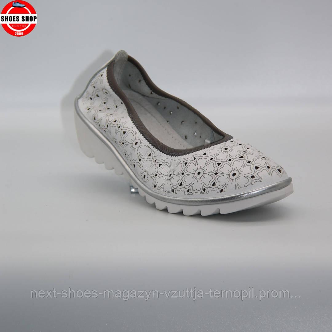 Жіночі балетки Comfort line (Китай) білого кольору. Дуже зручні та красиві. Стиль - Кендіс Свейнпол