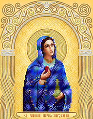 """Схема для вышивки бисером именная икона """"Святая Мария Магдалина"""""""