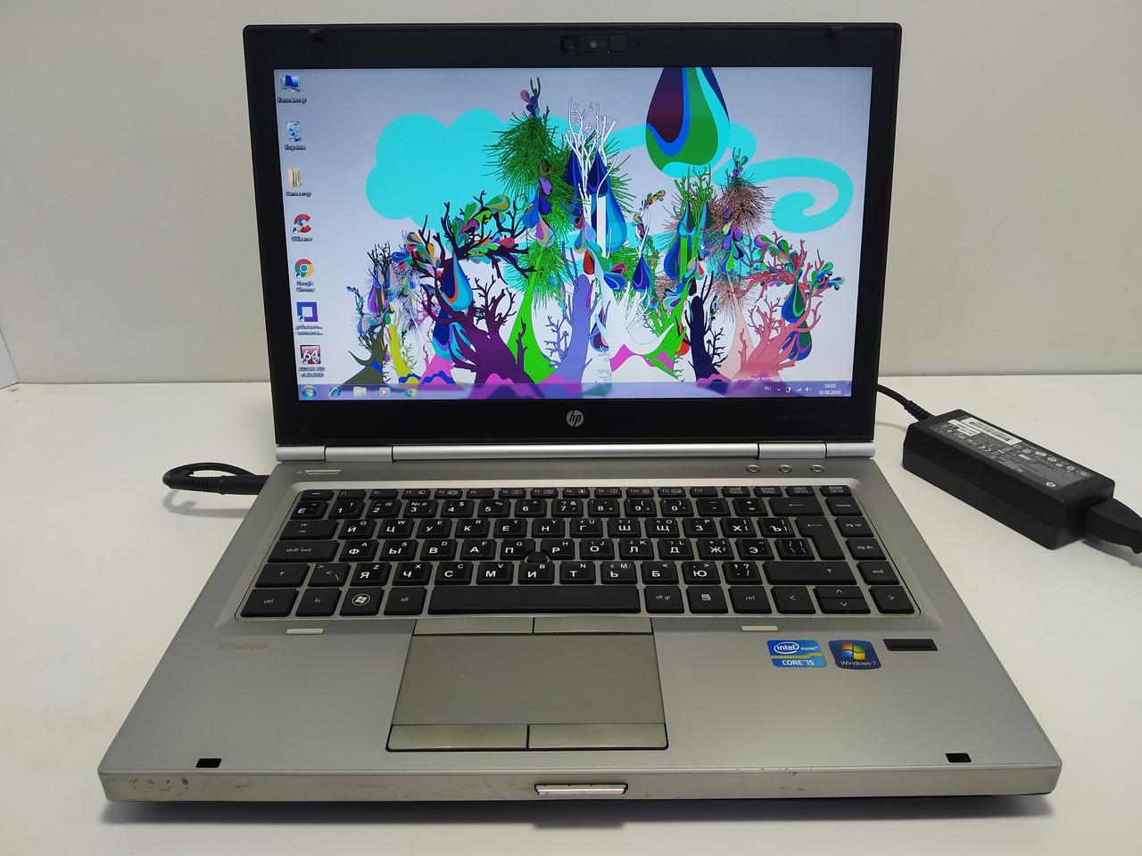 """14"""" HP EliteBook 8460p Core i5 2520m 2.5-3.2, 4 ГБ озу, 320 ГБ hdd, батарея не держит\ Настроен"""