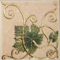 IMOLA 10х10 (декор: листя винограду) Grape 2 Leaf
