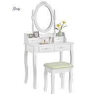 Туалетный столик с зеркалом и подсветкой JUSKYS Mirka