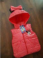 Детская жилетка Минни для девочки на рост 86-116 см