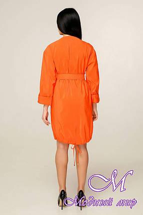 Плащ женский оранжевый (р. 44-52) арт. 868 Тон 632, фото 2