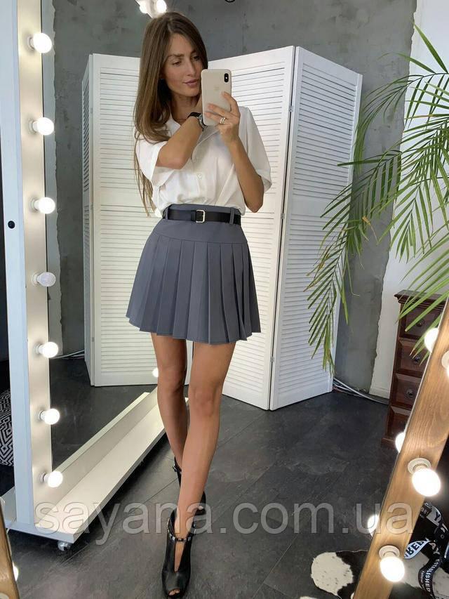 женская юбка в складки