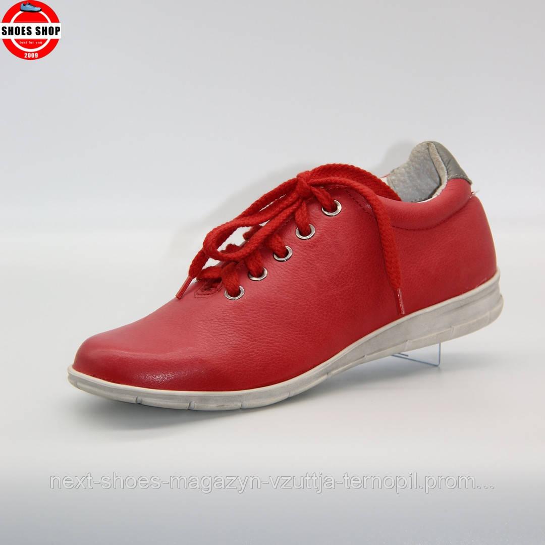 Жіночі кросівки Nagaba (Польща) червоного кольору. Красиві та комфортні. Стиль: Chloe Moretz