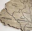 Карта Украины с фанеры (полисандр), фото 4