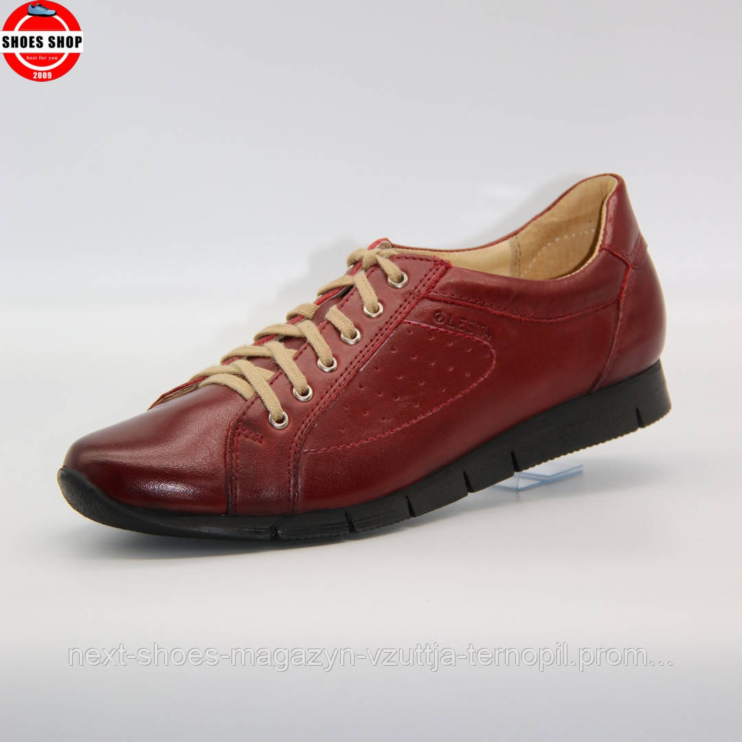 Жіночі кросівки Lesta (Польща) червоного кольору. Красиві та комфортні. Стиль: Chloe Moretz