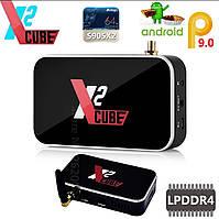⫸SmartTV X2 Cube 2gb/16 гб Amlogic s905XII S905x2 ugoos смарт тв приставка андроид андроїд android box pc mini