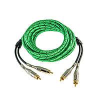 Межблочный RCA кабель для подключения усилителя с управляющим проводом AW-55 PRO