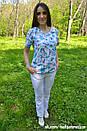 """Жіночий медичний костюм """"Мікс"""" з принтом, фото 2"""