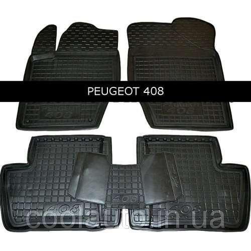 """Килимки гумові Peugeot 408 12- """"Avto-Gumm"""" (11388 )"""